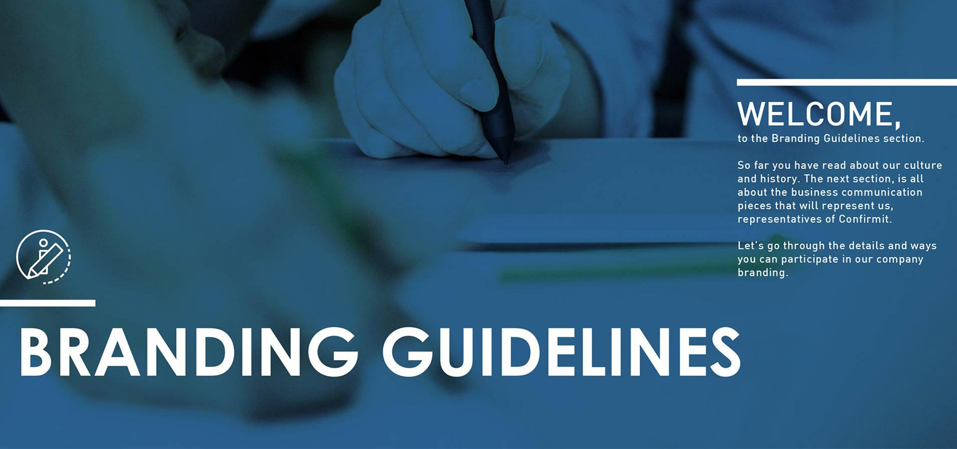Confirmit branding guidelines banner.