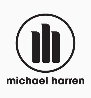 """""""Michael Harren"""" logo."""