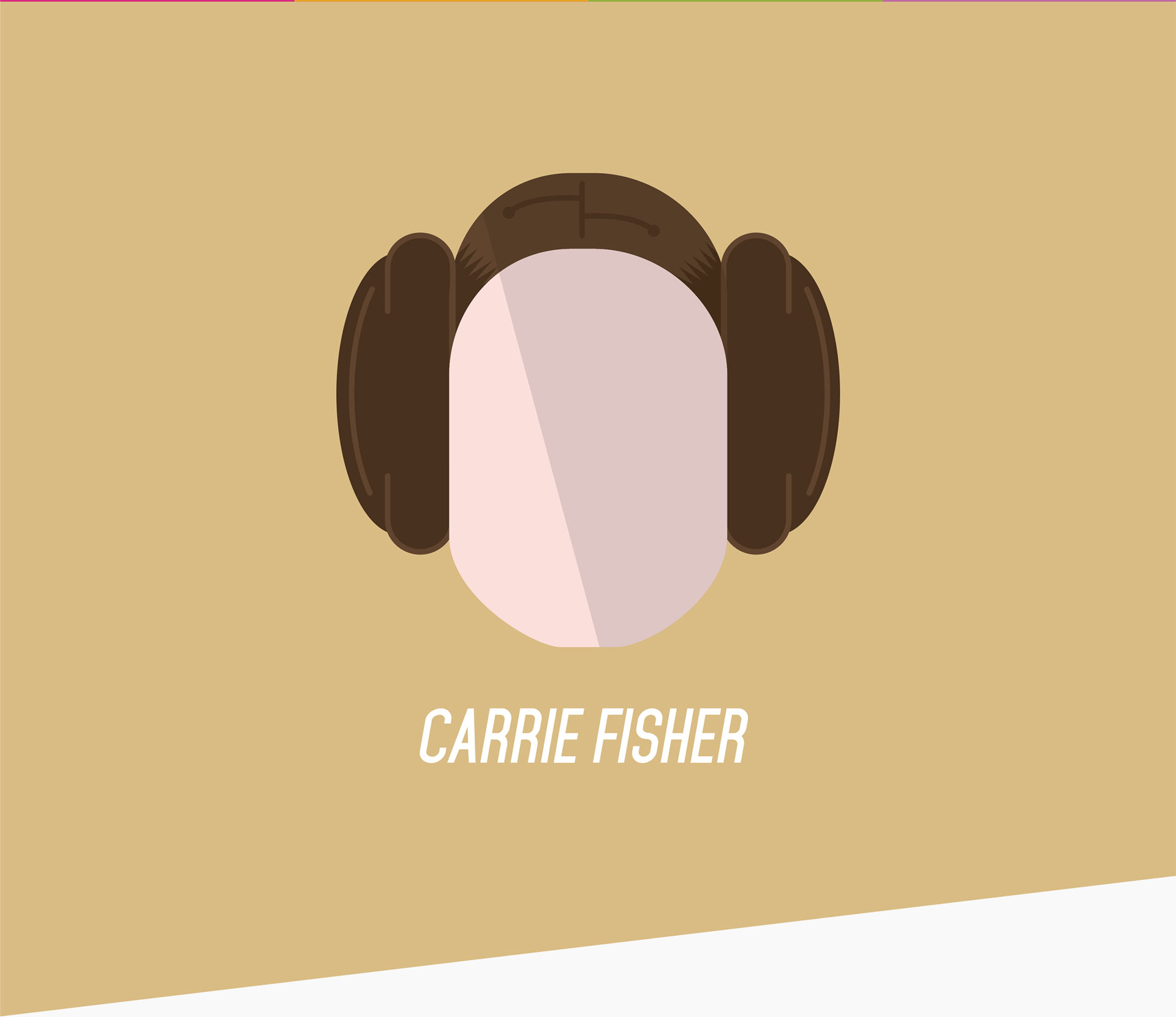 Carrie Fisher illustration.