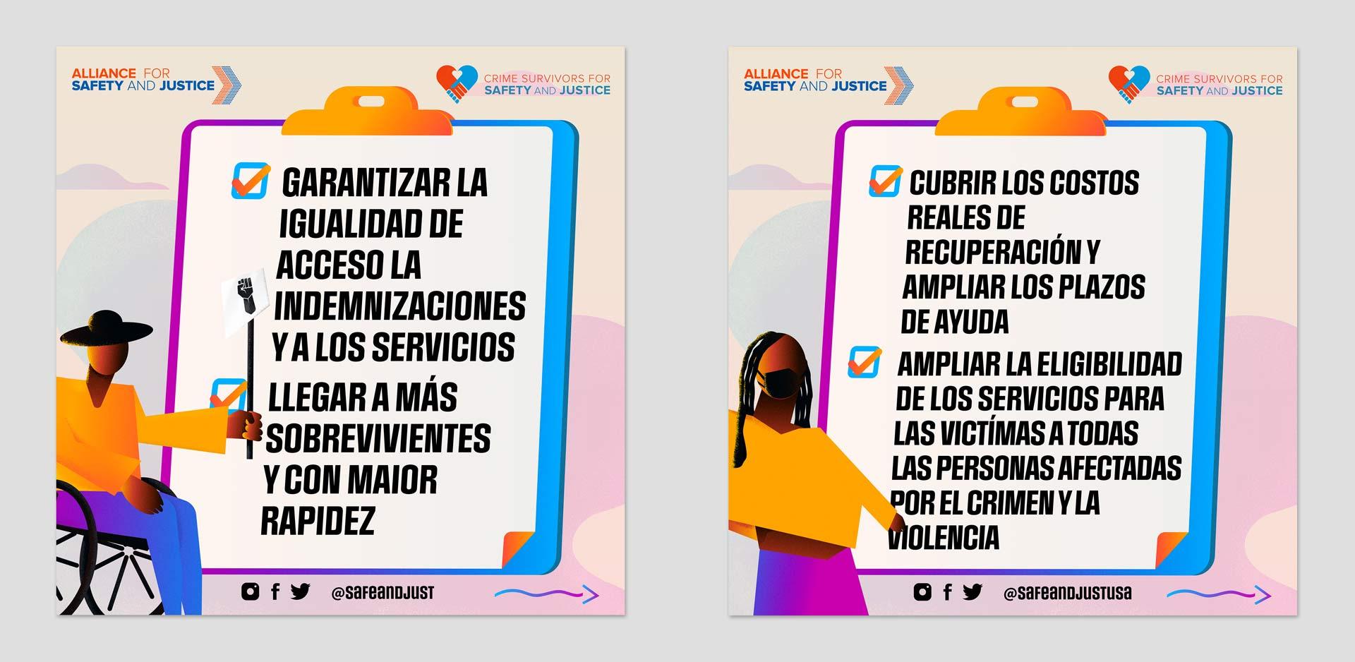 ASJ National Victims Agenda in Spanish